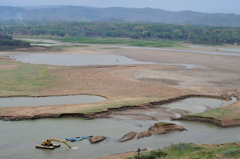 Het reservoir droogt in wonogiri royalty-vrije stock foto's