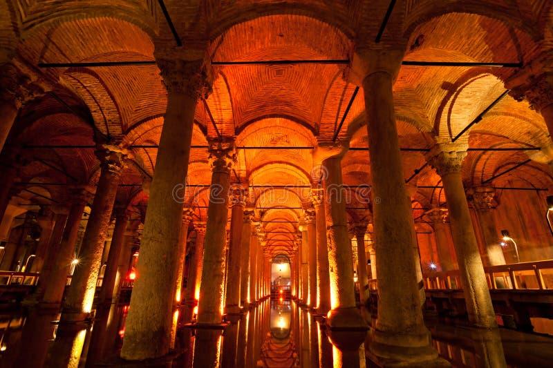 Het Reservoir van de basiliek, Istanboel, Turkije. royalty-vrije stock afbeelding