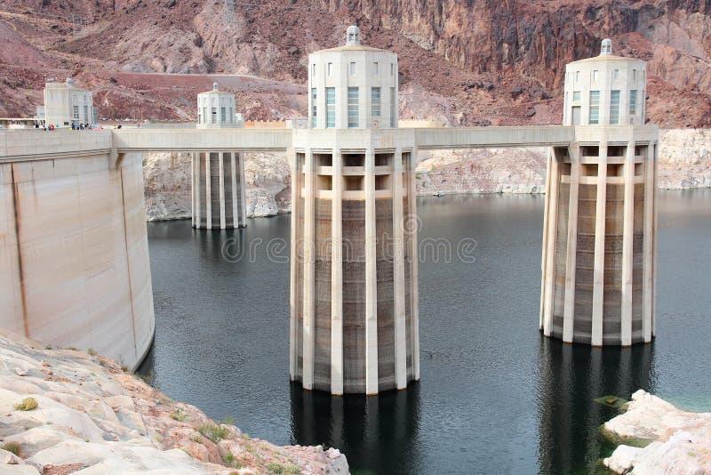 Het reservoir van de Hooverdam royalty-vrije stock fotografie