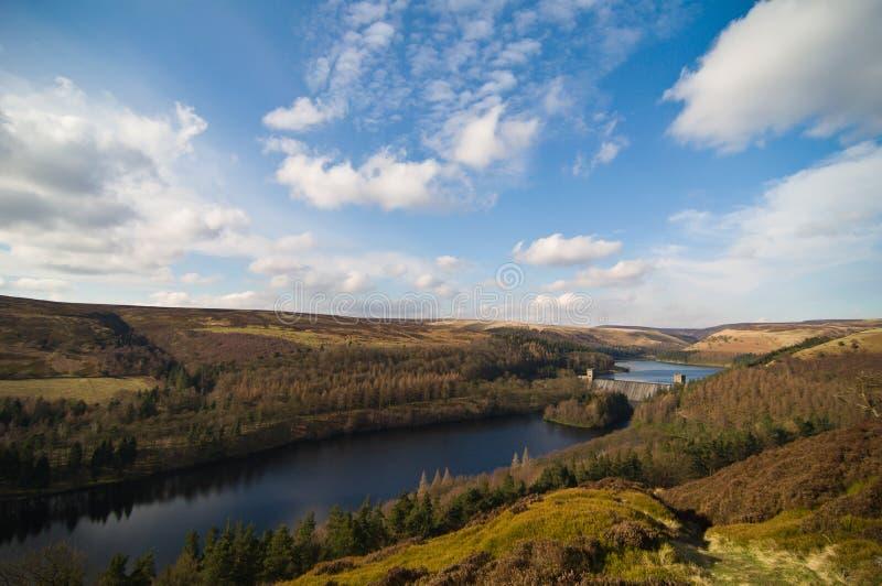 Het reservoir van Derwent stock fotografie