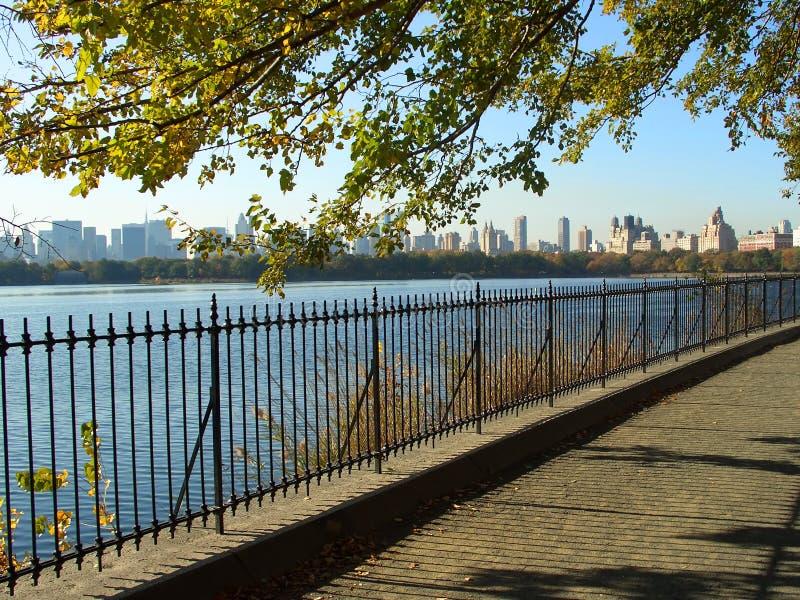 Het reservoir van het Central Park NYC royalty-vrije stock foto's