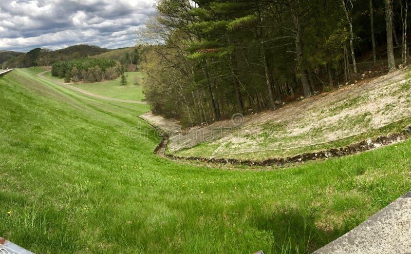 Het reservoir van Quabbin stock afbeelding