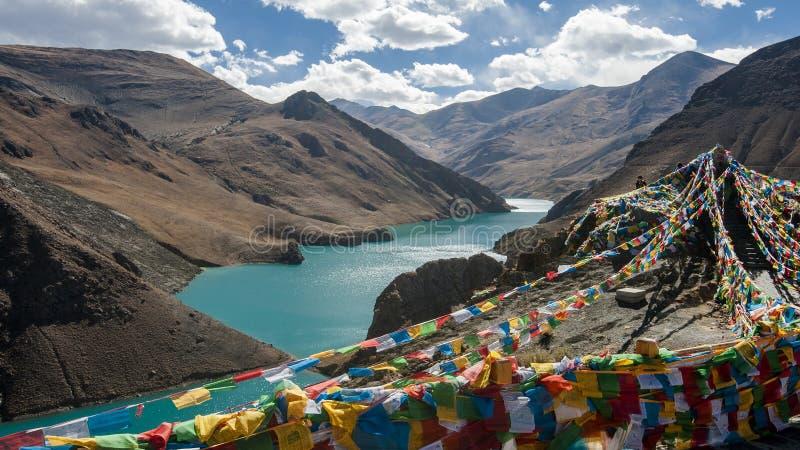 Het Reservoir van Tibet Manla royalty-vrije stock afbeelding