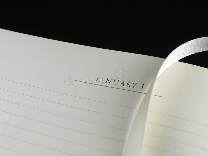 Nieuwjaar resolutie-Lint Verticaal royalty-vrije stock afbeelding