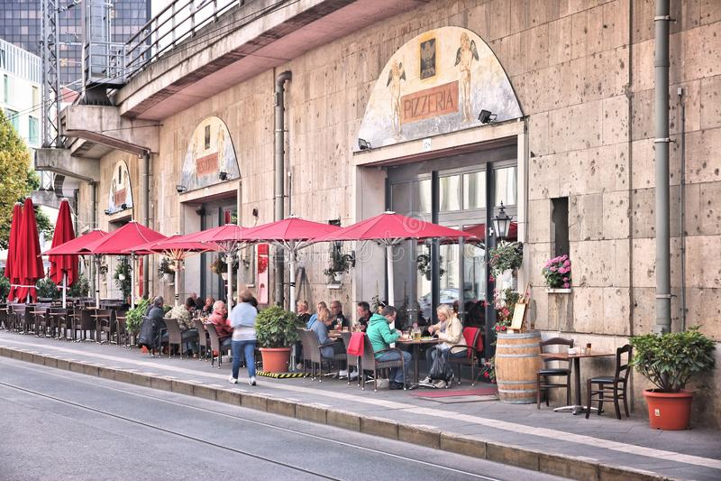 Het restaurant van Berlijn stock foto's