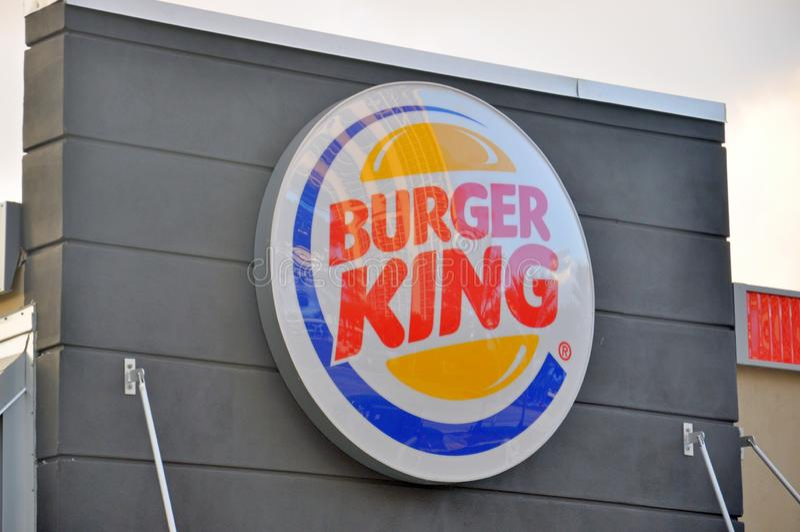 Het Restaurant van Burger King stock foto