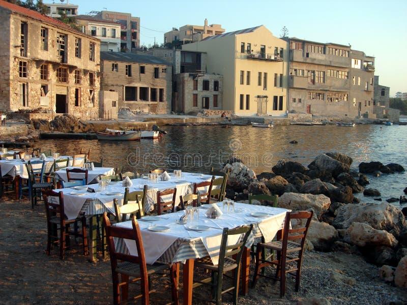 Het Restaurant van Chania stock foto's