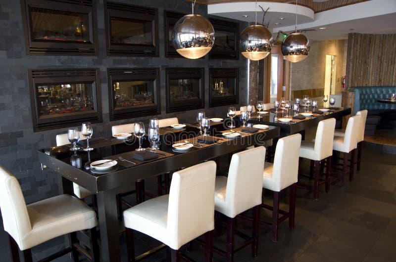Het restaurant van de luxebar royalty-vrije stock afbeelding