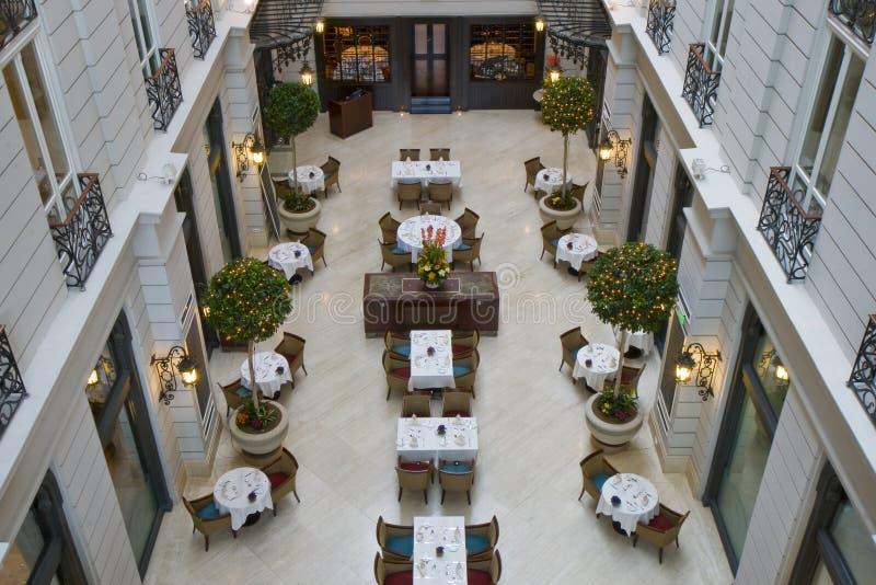 Het Restaurant van het hotel stock fotografie
