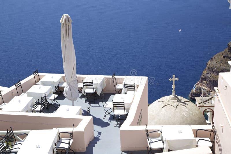 Het restaurant van Mediteranian royalty-vrije stock foto's