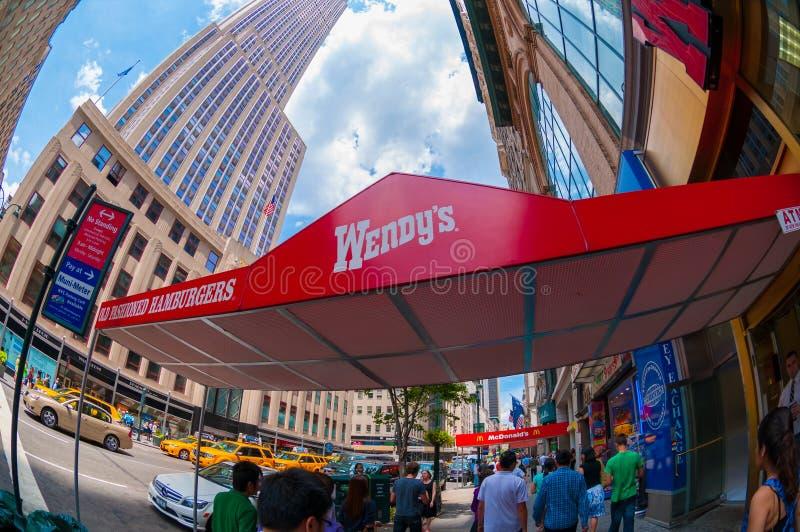 Het Restaurant van Wendy stock afbeeldingen