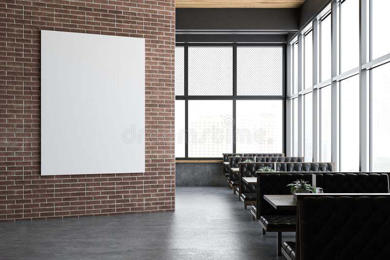 Het restaurantbinnenland van de luxebaksteen, affiche stock illustratie
