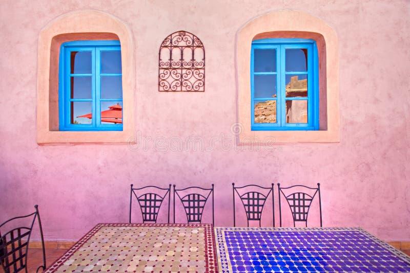 Het restaurantontwerp van Marokko stock foto