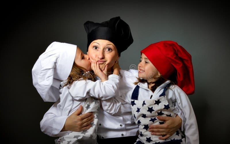 Het restaurantteam van de kok royalty-vrije stock afbeelding