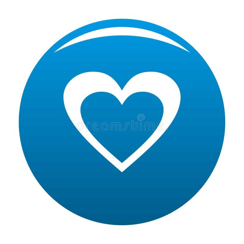 Het reusachtige blauw van het hartpictogram royalty-vrije illustratie