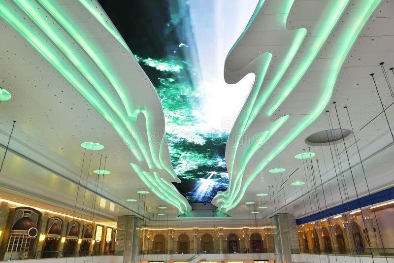 Het reuzeplafond geleide scherm stock afbeelding