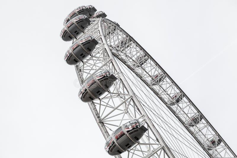 Het reuzereuzenrad van London Eye, het UK royalty-vrije stock afbeelding