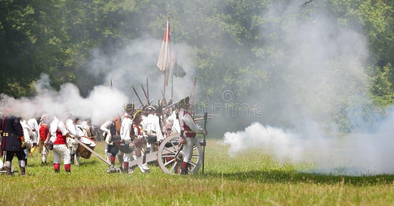 Het revolutionaire oorlogsweer invoeren royalty-vrije stock afbeelding