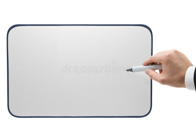 Het richten op whiteboard royalty-vrije stock afbeeldingen