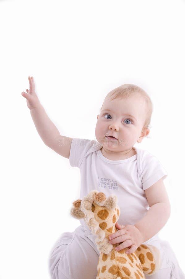 Het richten van de baby royalty-vrije stock foto