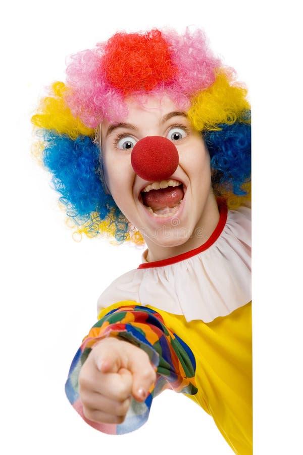 Het richten van de clown royalty-vrije stock afbeelding