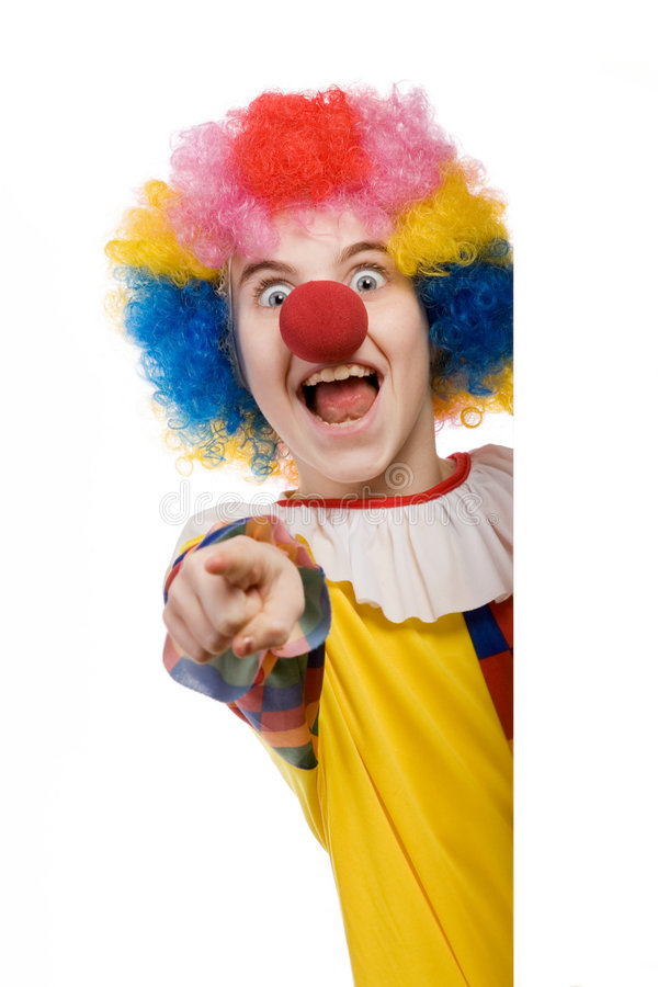 Het richten van de clown royalty-vrije stock foto