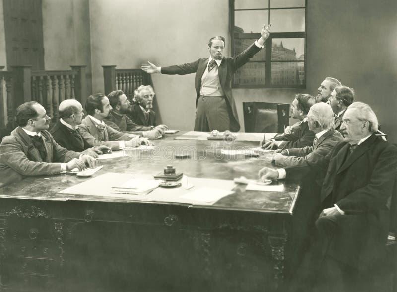 Het richten van de commissie stock afbeelding