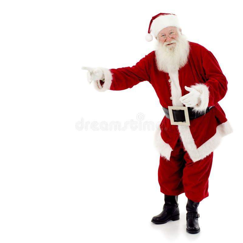 Het Richten van de kerstman stock foto's