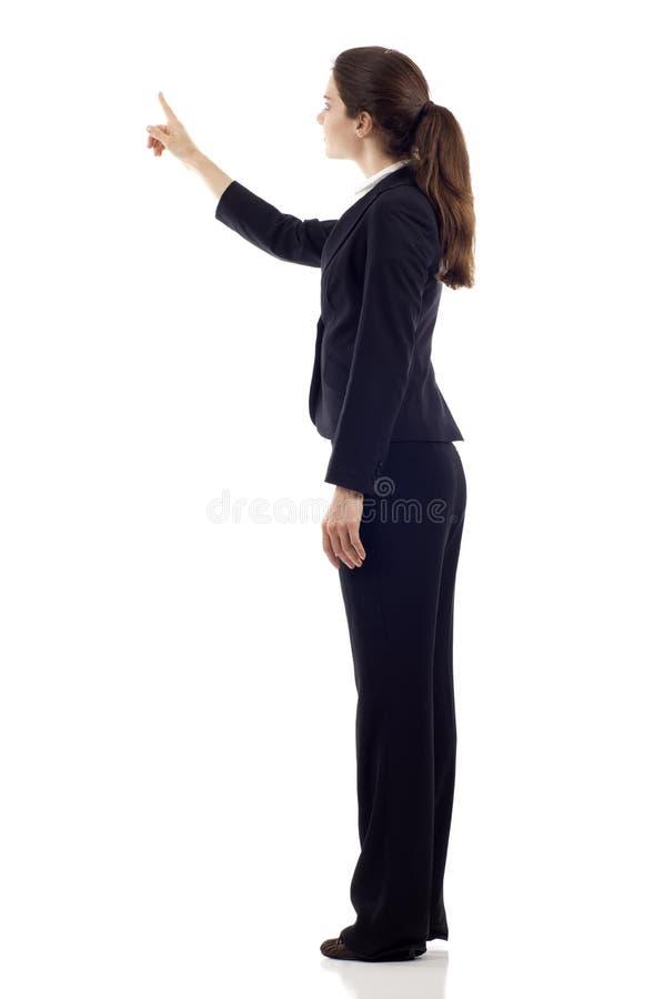Het Richten van de vrouw stock afbeelding