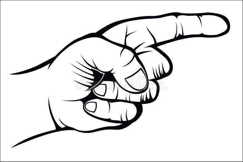 Het richten van hand stock illustratie