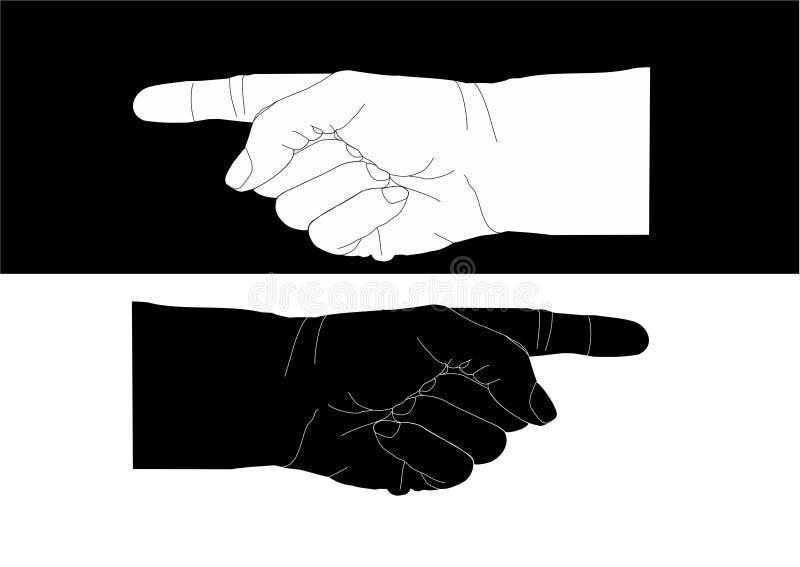 Het richten van handen vector illustratie