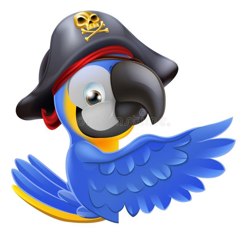 Het richten van Piraatpapegaai royalty-vrije illustratie