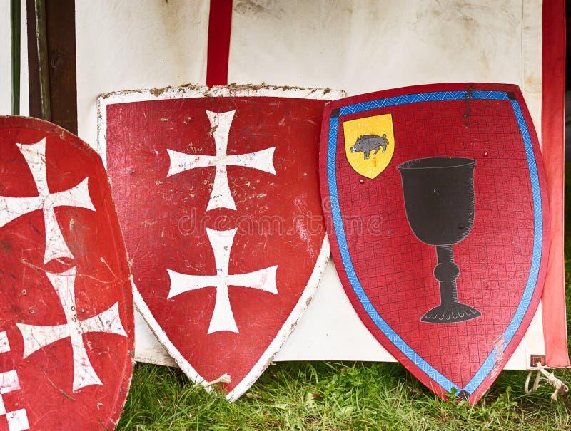 Het Ridder` s schild royalty-vrije stock afbeelding