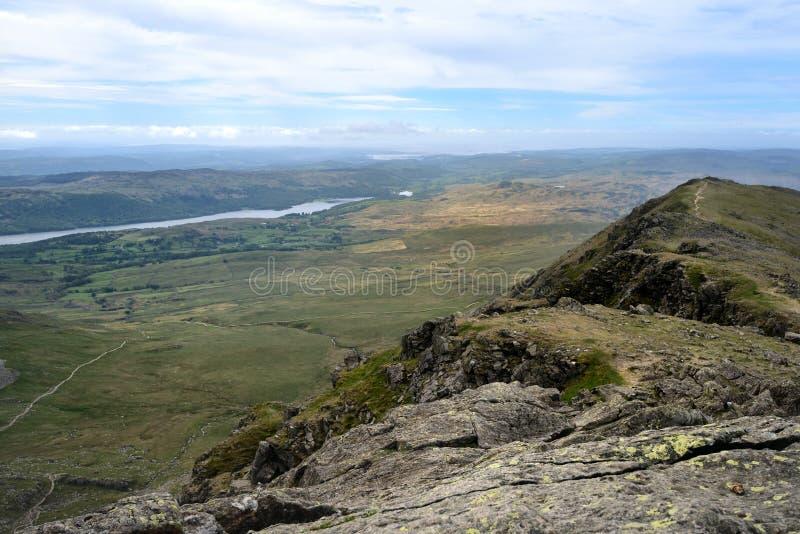 Het ridTheplatteland van Furness van Dow Crag stock afbeelding