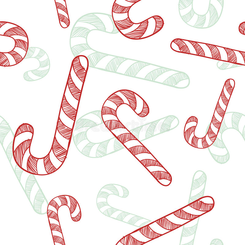 Het riet naadloze achtergrond van het suikergoed vector illustratie