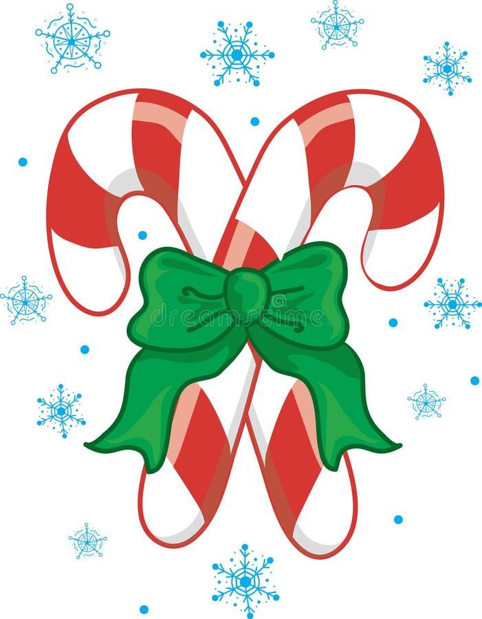 Het Riet van het Suikergoed van Kerstmis stock illustratie