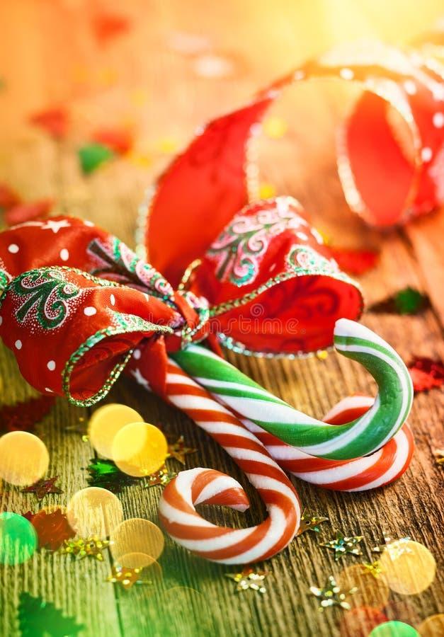 Het Riet van het Kerstmissuikergoed royalty-vrije stock fotografie