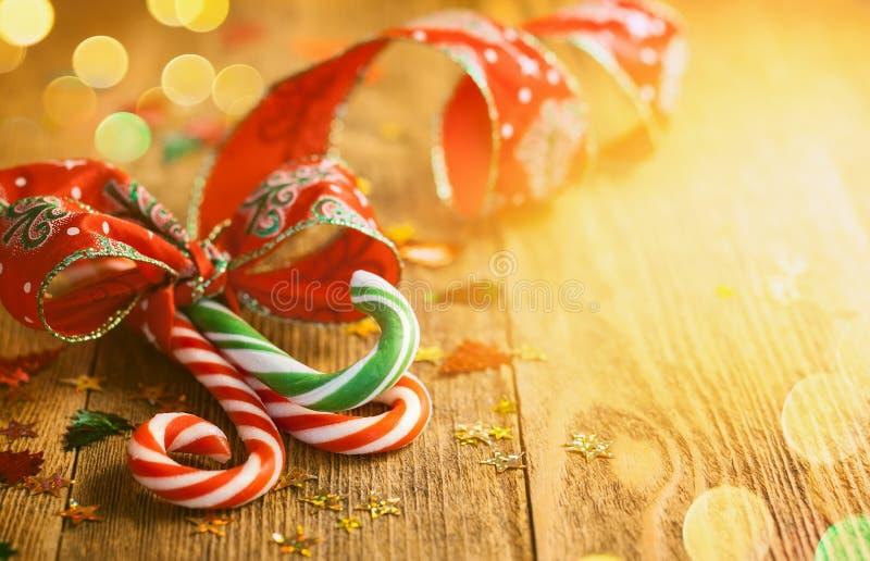 Het Riet van het Kerstmissuikergoed stock foto's