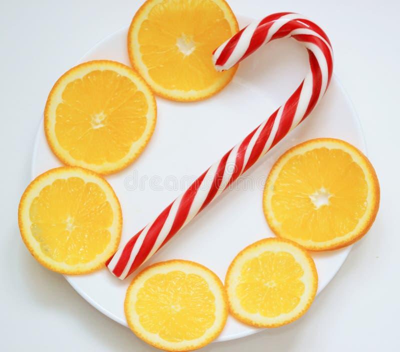 Het riet van het Kerstmissuikergoed, pepermunt stock afbeeldingen