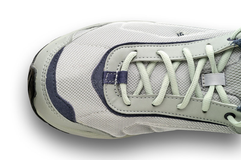 Het rijgen van tennisschoenen royalty-vrije stock foto's