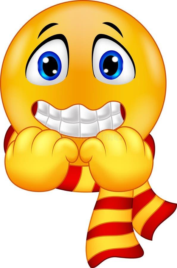 Het rillen Smiley vector illustratie