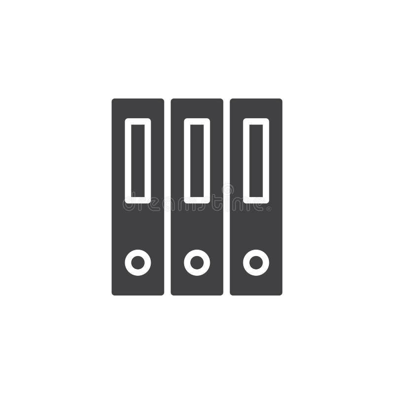 Het ringsbindmiddel, de vector van het de omslagenpictogram van het bureaudossier, vulde vlak teken royalty-vrije illustratie
