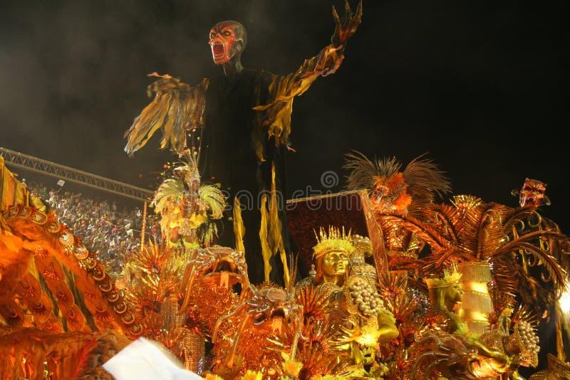 HET RIO DE JANEIRO VAN CARNAVAL - FEBRUARY20: royalty-vrije stock foto