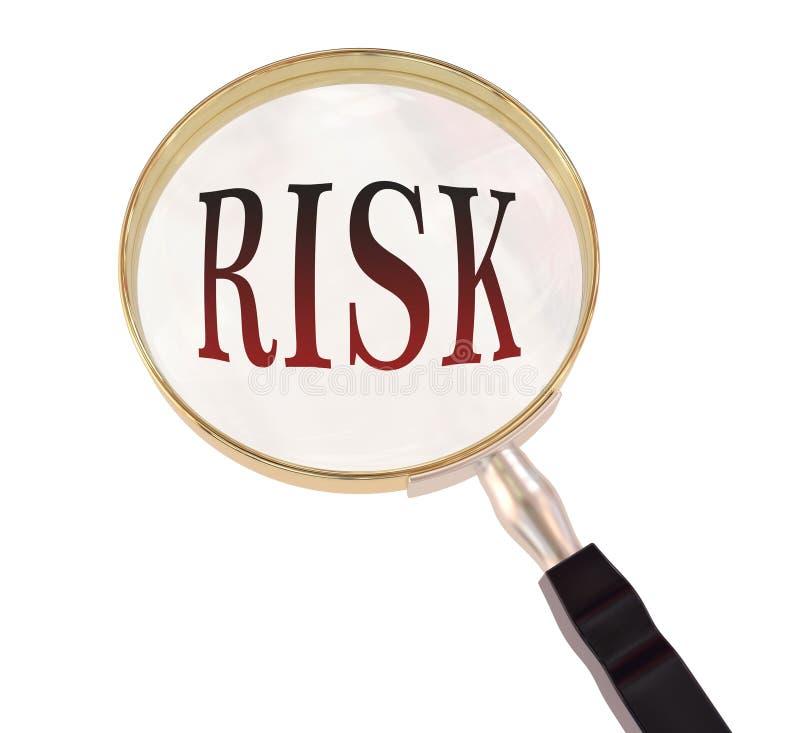 Het risico overdrijft stock illustratie