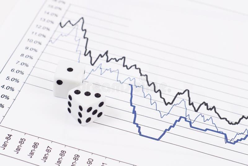 Het Risico van de Effectenbeurs royalty-vrije stock foto