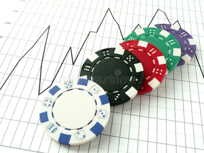 Het Risico van de Effectenbeurs stock afbeeldingen