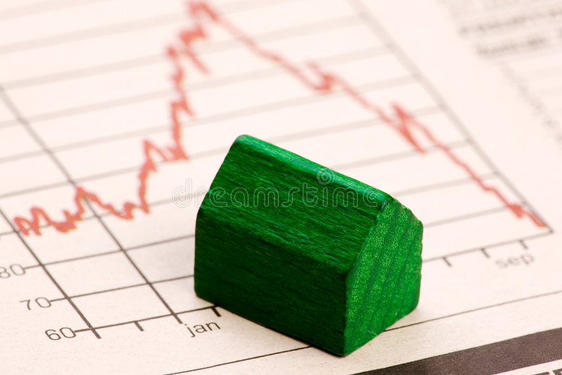 Het Risico van de Immobiliënmarkt stock afbeelding