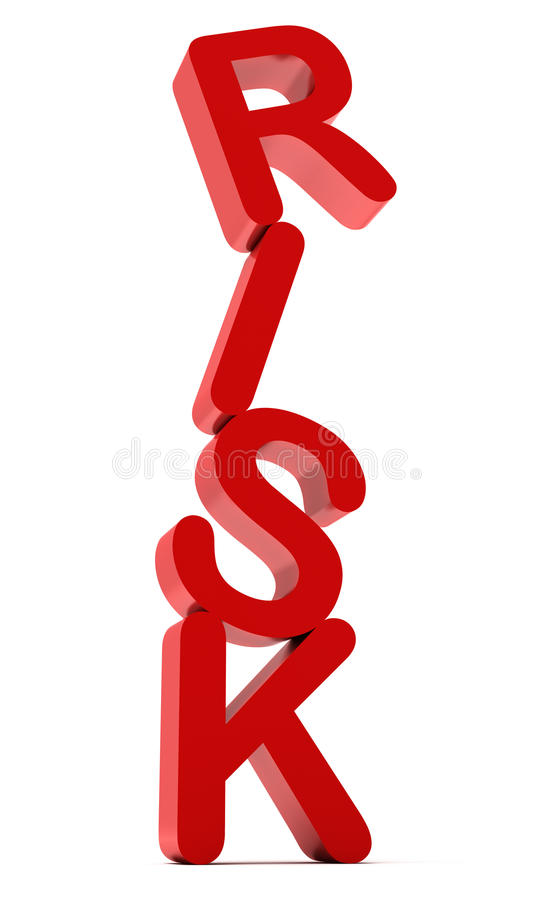 Het RISICO van Word in rode kleur stock illustratie