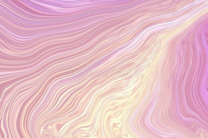 Het ritme van golf op holografische kleurenachtergrond, mooie het ontwerptextuur van de patroondecoratie royalty-vrije stock fotografie