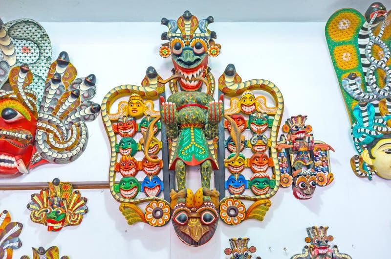 Het rituele Masker van Sri Lankan royalty-vrije stock fotografie